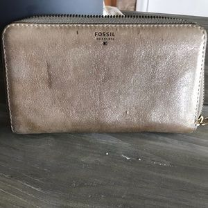 Shimmery Fossil Wallet